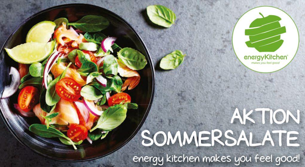 Aktion Sommersalate im Energy Kitchen Restaurant im 4. Stock