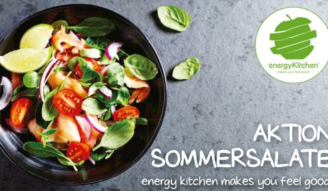 Aktion Sommersalate im Energy Kitchen Restaurant im 4. Stock